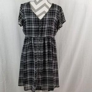 Old Navy Plaid Button Down Dress